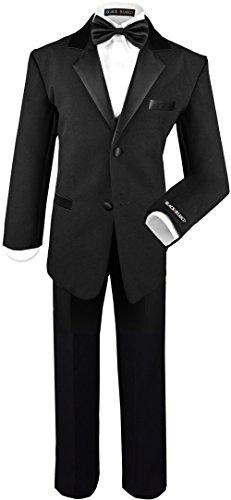 Boys Tuxedo in Black Dresswear Set Size 18