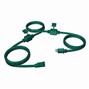 Stanley PowerMax 3-Outlet Heavy Duty Green Outdoor Grounded Extension Cord - 25'