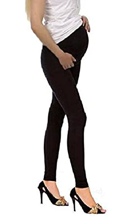 Top Woman Maternity Cotton Leggings Over Bump Pregnancy Clothes Size 8 to 22