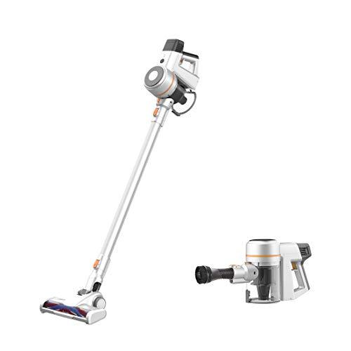 TC-JUNESUN Vacuum Cleaner 4-in-1 Quiet Suction Stick Cordless Fast Charging Lightweight for Home Hard Floor Carpet Car Pet Convenient Handheld (White-Orange)