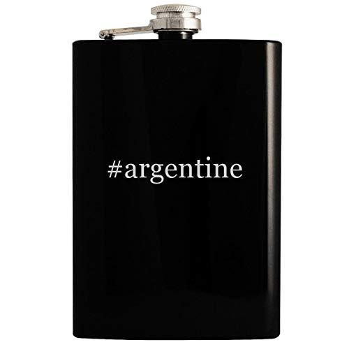 #argentine - Black 8oz Hashtag Hip Drinking Alcohol Flask