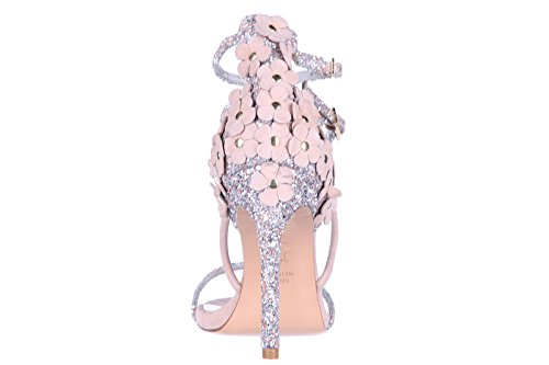 Stuart Weitzman Damen Leder Sandalen mit Absatz Sandaletten beige