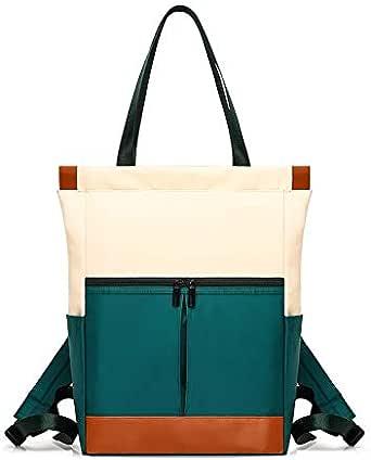 حقيبة ظهر للنساء سعة كبيرة حقيبة ملونة بسحاب إغلاق حقيبة الظهر الترفيه والشارع مناسبة