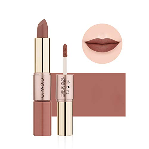 Kerhorina Lipstick Lip Gloss Double end Lip Matte Lipstick Velvet Lipstick Waterproof Makeup Soft Lip