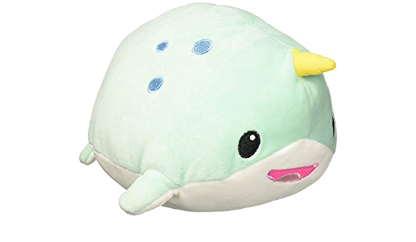 Kids gift Ready to  ship Gifts under 20 Stuffed Narwhal Aquatic Animal Plush Crochet Narwhal Rainbow Toy Toy Easter Narwhal