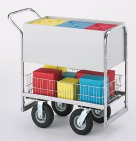 Charnstrom Medium Solid Metal Cart with 3 Different Wheel Options. (B254) by Charnstrom