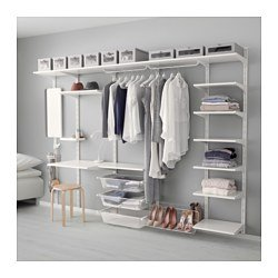 Ikea Wall Upright, Shelf And Triple Hook, White 10204.20175.2222