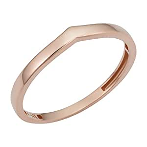KoolJewelry 14k Rose Gold 3.25mm Chevron Midi Knuckle Thumb Stackable Ring (size 6)