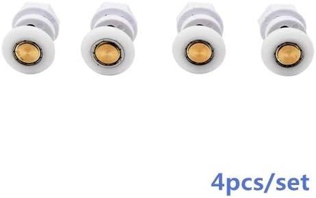 8pcs 19mm Farbe : 4pcs, Outer Diameter : 19mm 25mm 23mm 27mm ABS /& BrassDoor Roller einzelnes Rad for Schiebet/ür Duschkabine Zimmer Runner Pulley MUZIWENJU 1 Satz 4pcs