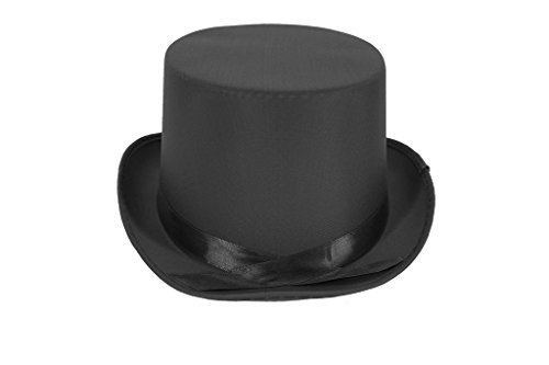 [Dress Up Party Costume TOP Hat (Black)] (Willy Wonka Costume Accessories)