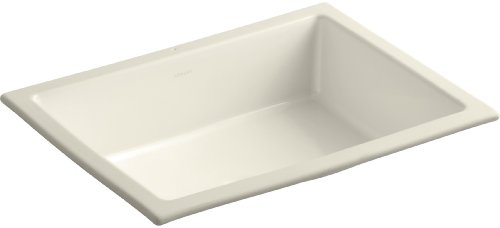 KOHLER K-2882-47 Verticyl Rectangle Undercounter Bathroom Sink, Almond