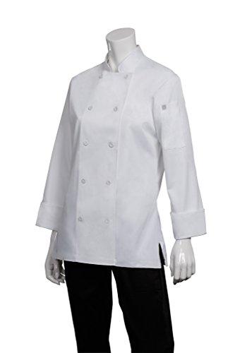 Chef Works Women's Marbella Chef Coat, White, Medium