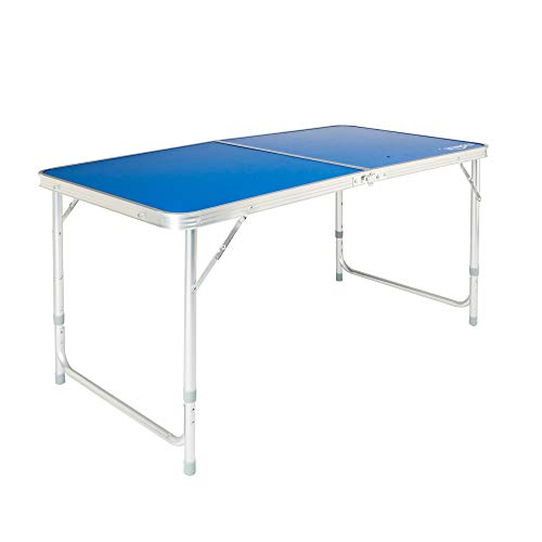 (VINGLI Folding Picnic Table with Aluminum Legs, 3 Adjustable Height,47.2''L x 23.6''W for Camping Party BBQ,Portable Utility Outdoor Tables with Carrying Handle, Foldable Desk )