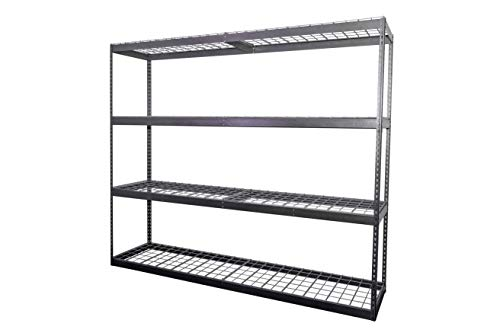 MonsterRax 2'x8'x7' Garage Shelving - Hammertone Bolted Shelving Rack - 500 Pounds Per Shelf High Grade Steel from SafeRacks