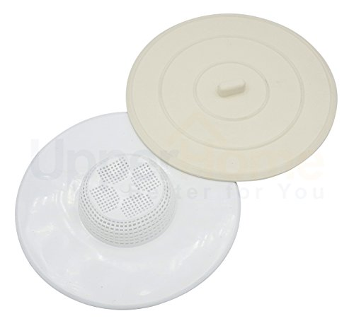 Universal Silicone Rubber Drain Stopper and Hair Guard Catcher, Fits Most Drains by UpperHome