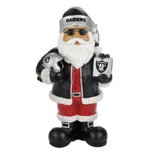 Amazon.com : Oakland Raiders NFL Resin Thematic Santa Christmas Tree ...