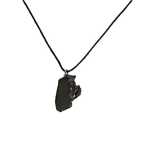 Shungite Pendant Necklace: Guaranteed Authentic Russian Natural Healing Stone Karelia EMF Radiation Protection, Chakra Balancing, Handmade Jewelry, Purification Stones (Tumbled Elite) ()