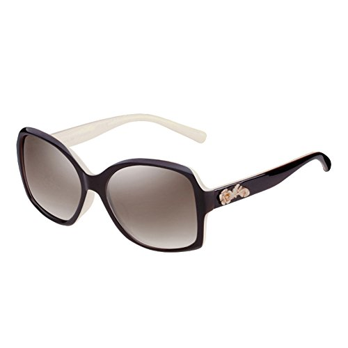 Sol grabadas Sol la de 4 Gafas de Redonda Moda Cara Vintage Las DT de de la 4 Color Gafas Protección Grandes Mujeres UV polarizadas de vEPHxS4xwq