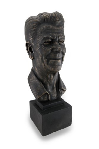 Things2Die4 Ronald Reagan Antique Bronze Finish Plaster Bust 17 in.