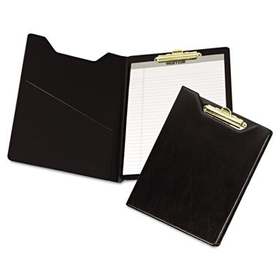 Samsill Value Padfolio with Clipboard, Letter Size Writing Pad, Black (71410) (Padded Clipboard)