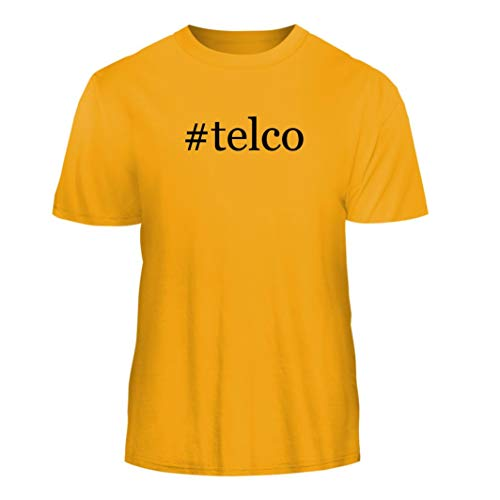 (Tracy Gifts #telco - Hashtag Nice Men's Short Sleeve T-Shirt, Gold, XXX-Large)
