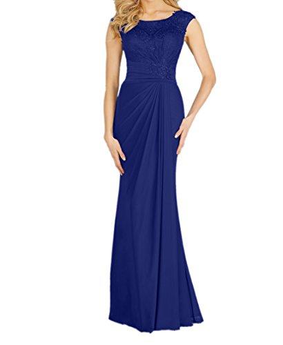 Charmant Damen Brautmutterkleider Blau Abendkleider Langes Neu Etuikleider Royal Ballkleider Abschlussballkleider qfUqr