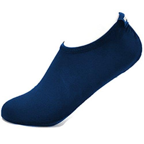 für Barfuß Aquaschuhe Marineblau Damen Unisex Yoga Schuhe Weich Schuhe Badeschuhe Rutschfest Schwimmschuhe Cokar Herren Wasserschuhe Strandschuhe Leicht Surfschuhe Wassersport wEIaqFZ