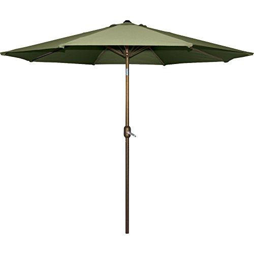 Bond Mfg 65499X Aluminum Umbrella, 9 ft. x 9 ft, Sage