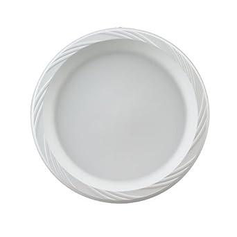 "Huhtamaki HUH 82206 Chinet 6"" White Color Popular Choice Light Weight Plastic Round Plate (8 Packs of 125)"