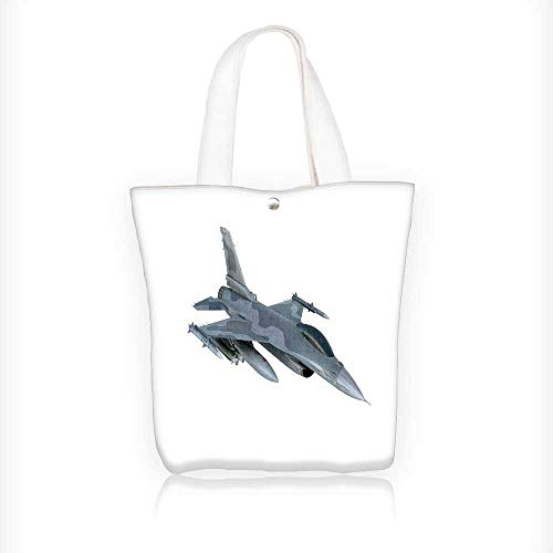 Canvas Tote Bags jet f isolate on white background military