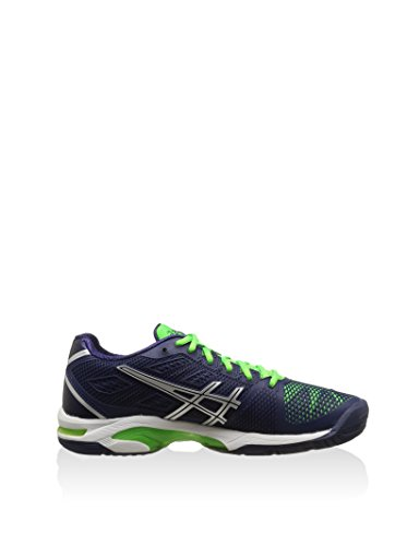 Asics Gel-Solution Speed 2 - Scarpe sportive Uomo - Navy/Silver/Neon/Green (5093) (48)