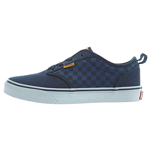 Vans YT Atwood Slip-On, Boys Low-Top Sneakers, Blue ((Checkers) Blue/Orange), 3.5 UK (36 EU) -