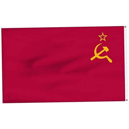 (Mikash 3x5 USSR Soviet Union Russia Super-Poly Flag 3x5 Banner Fade Resistant Premium   Model FLG - 3025)
