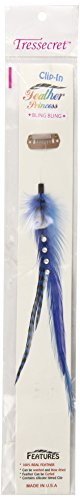 """Lord and Cliff 6"""" Clip-In Feather Princess Bling Bling Ha..."""