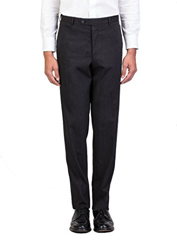 Wool Blend Trouser Pants Charcoal Grey (Prada Denim)