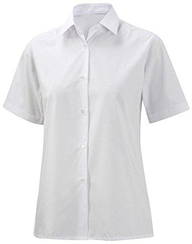 Blusa de kimono de para la escuela traje de neopreno para mujer de manga corta para en la parte superior y la oficina y la camiseta de manga corta de trabajo vestir blanco