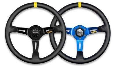 Momo R1908/35S Steering Wheel (MOD 08 Black Suede) (Momo Style Steering Wheel)