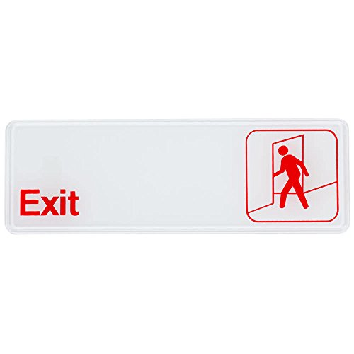 Royal Industries Exit Sign, Plastic, 3