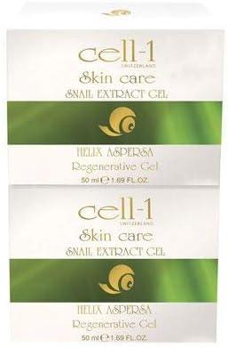 Gel cell-1, cuidado de la piel original de primera calidad con extracto de Slug | Efectivo contra arrugas, espinillas, manchas, cicatrices y estrías | ...