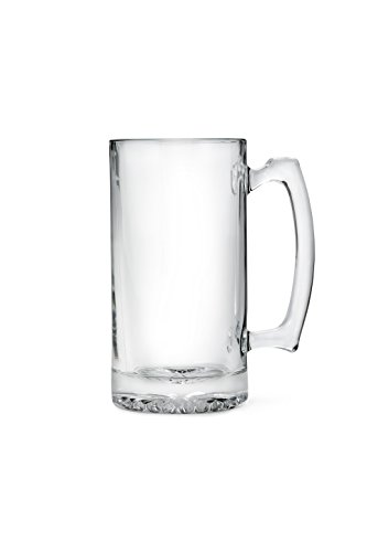 Weddingstar Glass Sports Mug, 25 oz, Clear