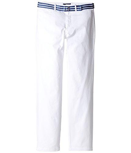 Polo Ralph Lauren Belt Stretch Cotton Chino (White) (20 Big Kids) - Lauren Cotton Belt
