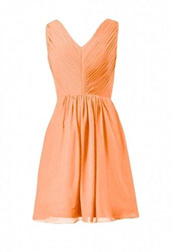 Daisyformals Courte Partie En Mousseline De Soie Robe Encolure En V Dame Robe Formelle (bm5194) N ° 22 Orange
