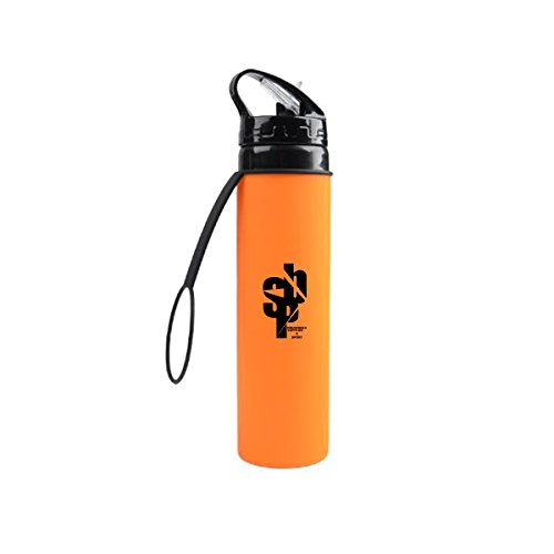 SPB-20oz-Collapsible Water Bottle - BPA Free-Leak & Spill Proof, Freezer and Dishwasher Safe - Light Weight & Folds for Easy Storage In Travel Luggage, Sorts Bags, Outdoor Backpacks, or Purses... (Light Weight Dishes)