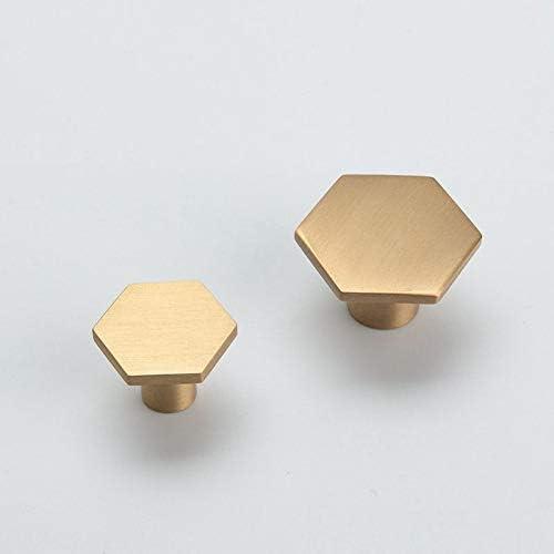 Hexagon Brass Knob Kitchen Cabinet Pulls Drawer Knob Pull Handles Dresser Knobs Pulls Unique Door Knob Handle Furniture Hardware