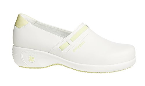 Oxypas Move Up Lucia Slip-resistant, Antistatic Leather Nursing Shoes with Raised Heel and Coolmax Lining