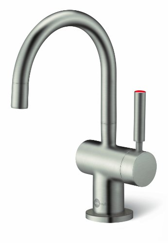 InSinkErator F-H3300SN Indulge Modern Instant Hot Water Dispenser Faucet, Satin Nickel (Instant Hot Water Dispenser Satin)