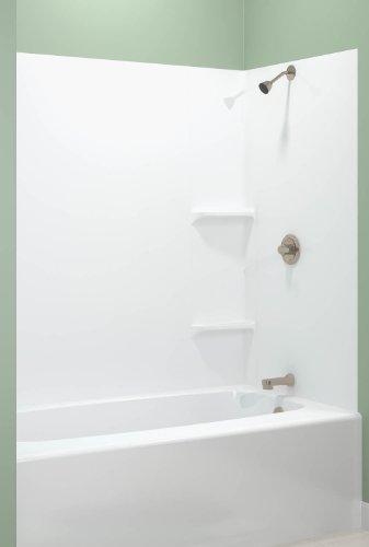ASB TEMP203A Tempo Tub Wall, White, 5-Piece