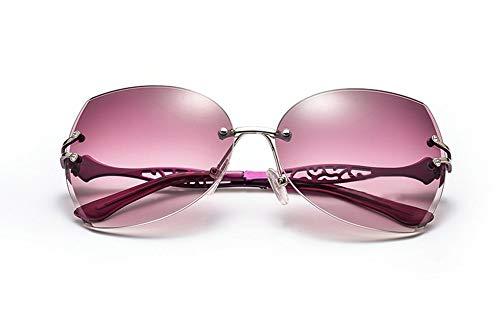 Polarizados UV De Grande Conducción De Retro Sin Marco Sol WJYTYJ Retro Clásico Unisex Modelos Anti Gafas Cuadro 8q6FHwUx7
