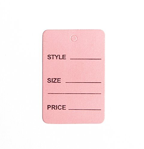 1000pcs Pink Color One Part Unstrung Perforated Price Coupon Tag Clothing Price Labels/clothing Tag/perforated Price Coupon Tags 1 1/4'' X 1 7/8'' by Metronic International Inc
