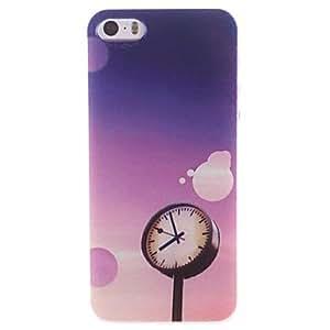GONGXI-El cielo azul y el reloj de color diseño de dibujo patrón pc caso duro para el iphone 5 / 5s